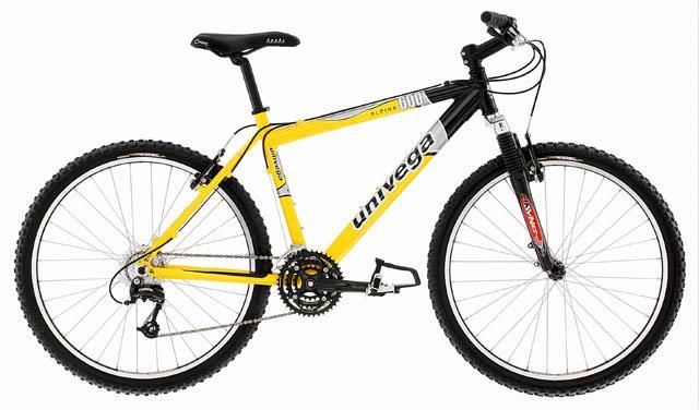 Велосипед бу - univega alpina рама - алюминий (7005) вилка - sr suntour xct v3 конструкция вилки (амортизатор)